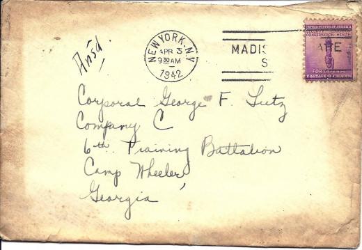 Scan of Actual Envelope