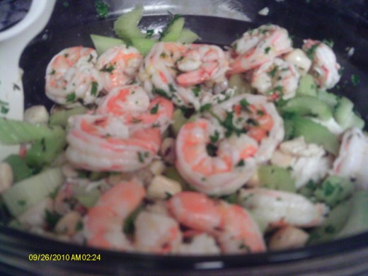 Seafood Salad- a treasure-trove of ocean delights