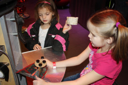 My daughters making their own creations at the children's museum.