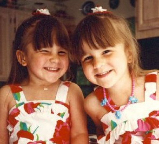 """Twin girls.""  This is my sister and I (I'm on the left)"