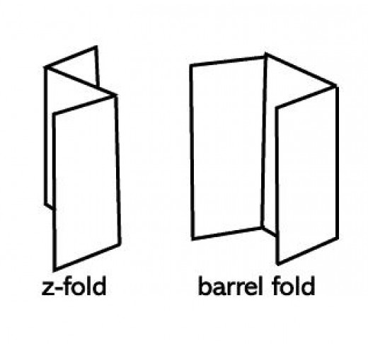 Use the z-fold or the c-fold (barrel fold) to plan the layour of your tri-fold brochure.
