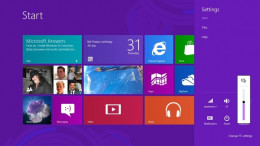 The new Metro interface for Windows 8