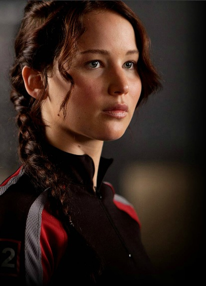 Jennifer Lawrence as Katniss Everdeen in the Hunger Games movie.