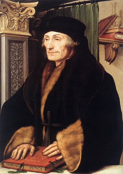 Portrait of Desiderius Erasmus of Rotterdam, the Netherlands.