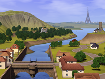 The beautiful view of Champs Les Sims