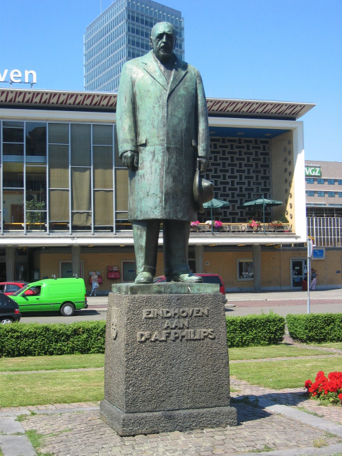 Statue of Anton Frederik Philips by Oswald Wenckebach near Eindhoven Station, The Netherlands