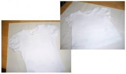 2 white tee shirts waiting on stars.