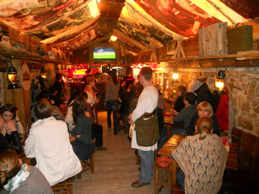 Inside of Kryjivka restaurant