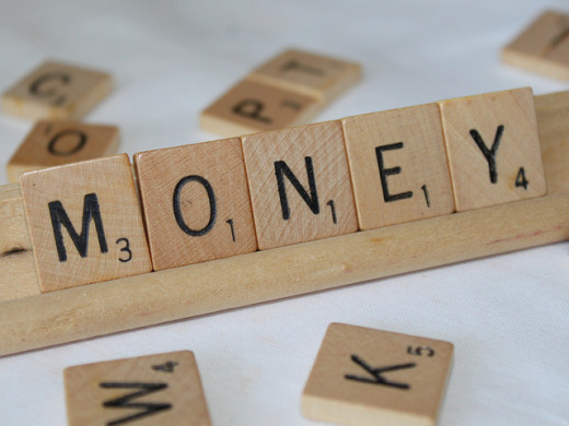 Even in Scrabble, it's all about money? Well at least, you'll have a minimum of 10 points!