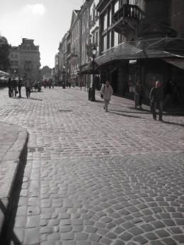 Lviv's beautiful cobblestone roads