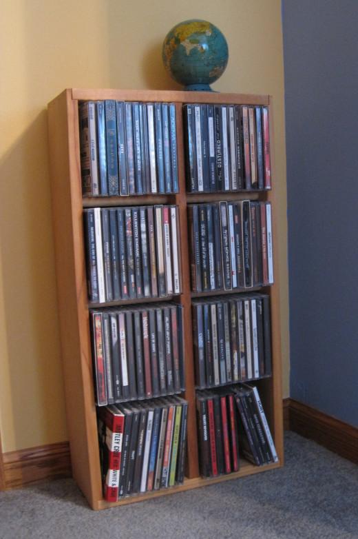 Wooden CD Rack