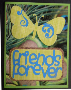 Easy to Make Friendship Card using a Cricut