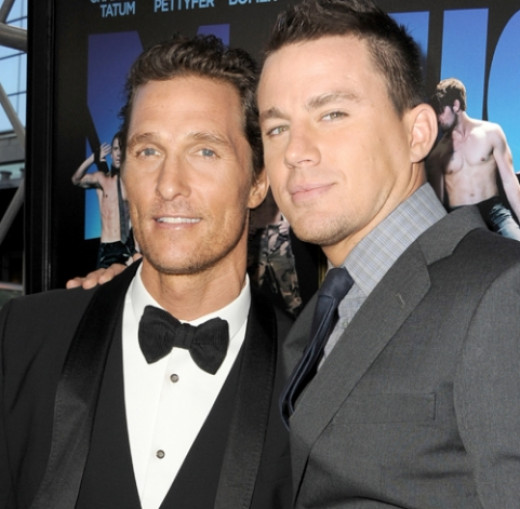 Matthew McConaughey & Channing Tatum star in Magic Mike - a strip tease on film.
