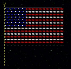 US Independence Day in ASCII Text Art