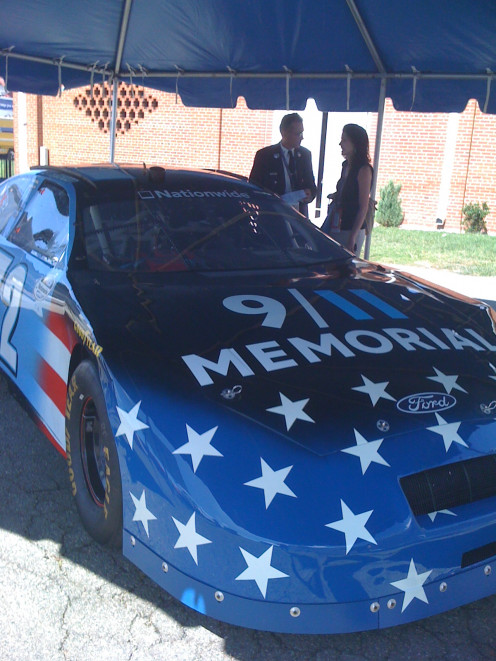 911 tribute car at the September NASCAR race in Richmond.