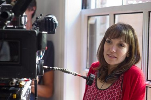 Lorene Scafaria on the set of Seeking a Friend for the End of the World