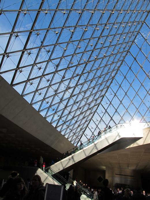 Inside the I.M.Pei Pyramid