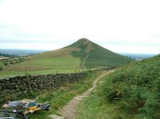 Looking westward across Roseberry Common to Roseberry Topping