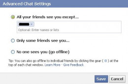 "Select ""All your friends see you except"" and then enter the names of the friends you want to appear offline to."