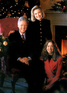 Bill Clinton and family.