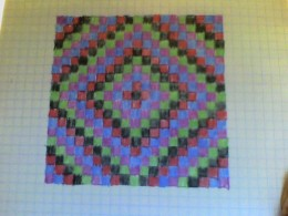 This is the basic layout for the Trip Around the World Quilt.