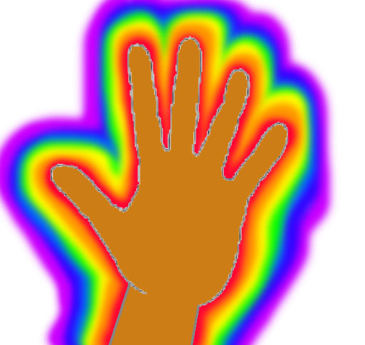 How to see your own aura - you can start by focus on the edge of your hand palm