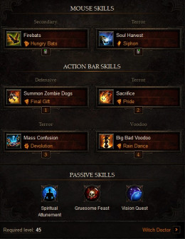 Diablo 3 Witch Doctor Build : High DPS Sacrificing