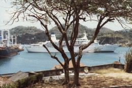 "The original 700 passenger ""Sun Princess"" cruise ship in 1980 as seen in Grenada harbor"