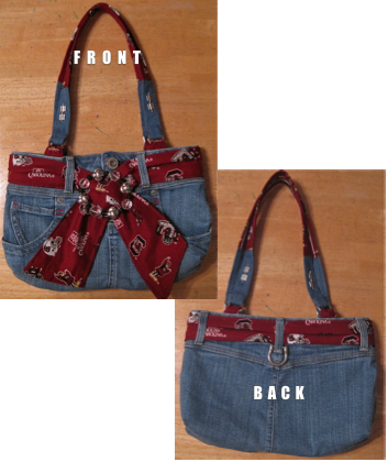 This small denim purse is easy to make!