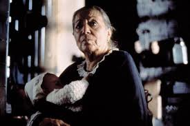 One of the first scenes when Tita is born and in the arms of her Grandmother.