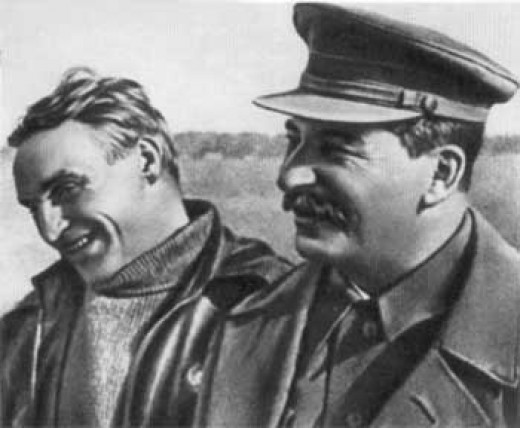 Stalin and Chkalov. From a public domain
