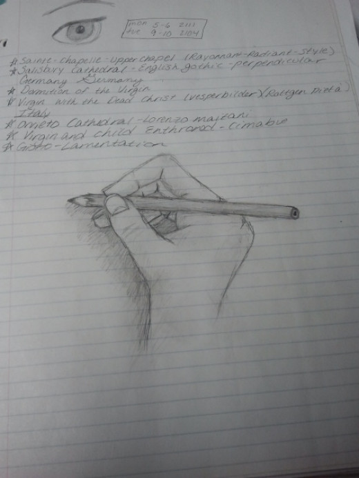 The one thing I hate about college is taking notes. An example of one of my bad note pages. Photo Sources: Shanna11