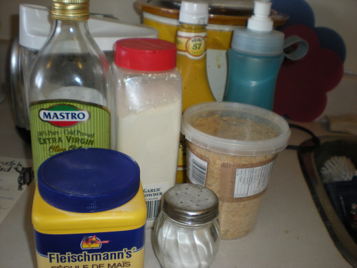 The ingredients for nutritional yeast cheese