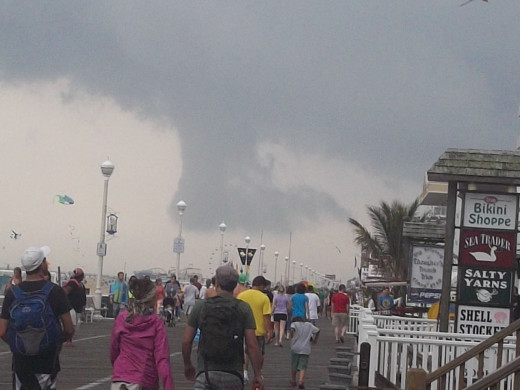 Ocean City, MD - Boardwalk right before a storm.