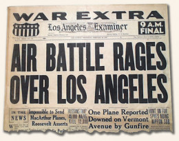 Original UFO over LA newspaper post in 1942