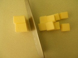 Cut butter into cubes.