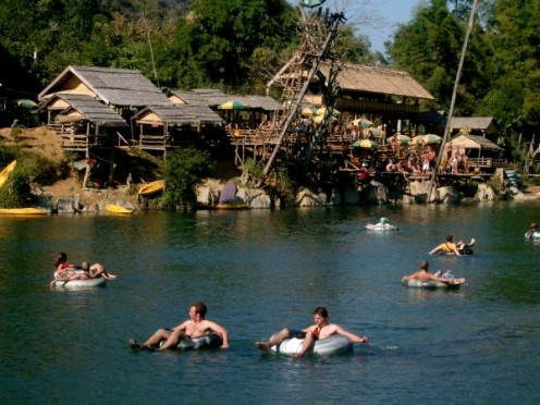 It only looks like fun and games... local villigers warn the waters are now cursed by death