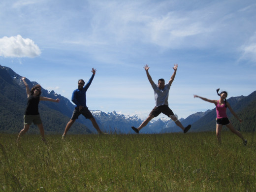 The tour group conquered it all!  We take a moment to enjoy another beautiful view of the valley.