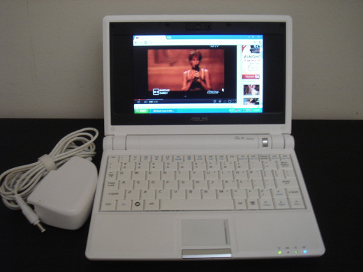 Netbook with AC adapter