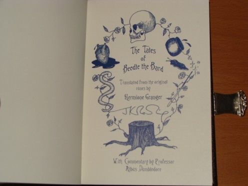 J.K. Rowling's Handwriting and illustrations in Print.