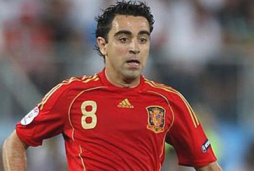 Xavi was the star man for Spain.