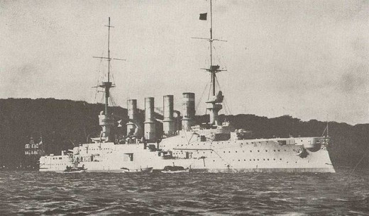 SMS Gneisenau, took part in the Battle of Coronel