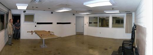 Execution chamber at Utah State Prison