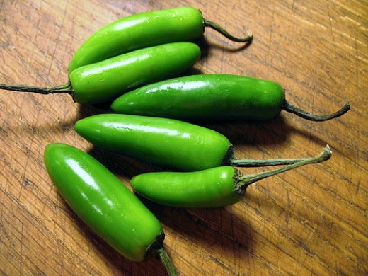 "Serrano Peppers ""in the raw"""
