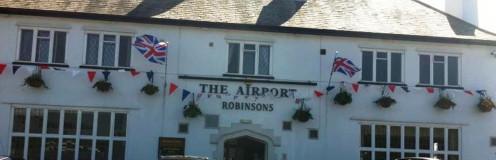 The pub entrance.