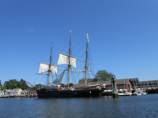 The Joseph Conrad, originally built in 1882, that is available for guests to climb aboard and explore.