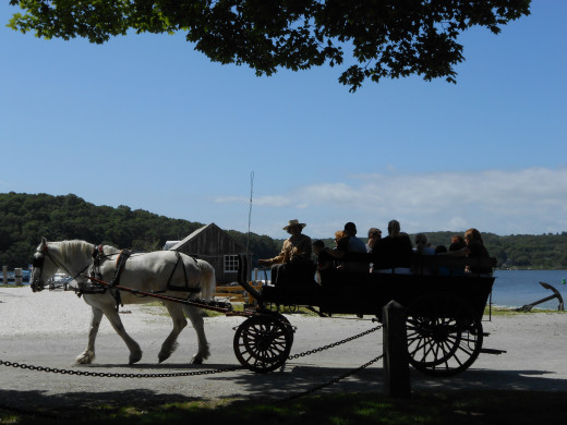 A traditional horse and buggy ride around the village is available for an extra charge.