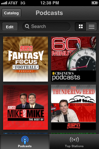 Tap the podcast you want to set up automatic downloads for to open the Episodes screen for that podcast.