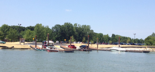 Lake-side view of the New Galena Boat Ramp.