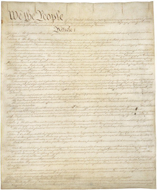 1st page of the U.S. Constitution. I'm not a blind worshiper, but the United States Constitution is truly an incredible thing.